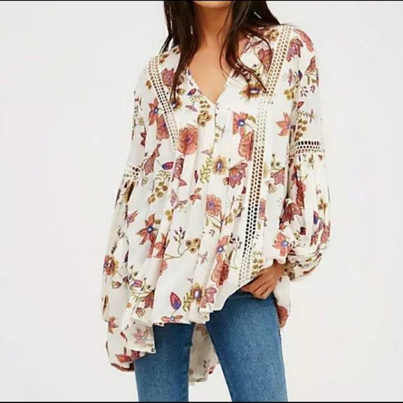 Free People Just the Two of Us Boho Tunic Top